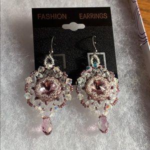 Handmade fashion artisanal earrings. Swarovski